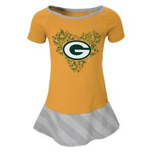 """Green Bay Packers NFL """"Fancie"""" Toddler Girls Drop Waist Dress"""