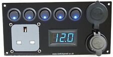 Switch Panel/ Hook Up/USB 12V/240V Control Charging Unit Campervan Motor Home