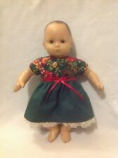 """15"""" Bitty Baby/18"""" American Girl Doll green Christmas dress Clothes fit outfit"""