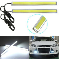 2pcs 17cm 12V White LED COB Car Auto DRL Driving Daytime Running Lamp Fog Light