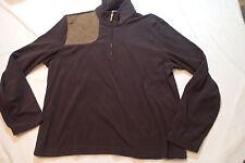RALPH LAUREN sweater,BLOUSE,TOP pullover SZ XL,BROWN,SUEDE PATCH ,1/4 ZIP &