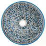 Marokkanisches Aufsatzwaschbecken Rund handbemalt Becken Keramik  D39cm FESI-X