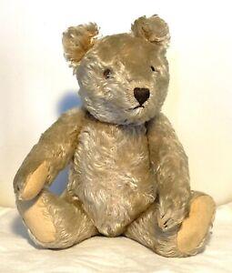 Vintage Excelsior Stuffed Jointed Mohair Teddy Bear Steiff?