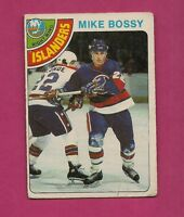 1978-79 OPC # 115 ISLANDERS MIKE BOSSY  ROOKIE CREASED CARD (INV#2657)