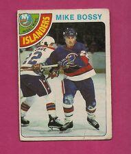 1978-79 OPC # 115 ISLANDERS MIKE BOSSY  ROOKIE CREASED CARD (INV#2657)