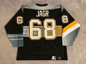 "Jaromir Jagr Pittsburgh Penguins Starter Authentic Hockey Jersey, ""Robopen"" 52"