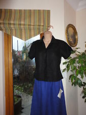 Black 100% Linen Top from Flax, Size UK S petite, New with tags,RRP£60