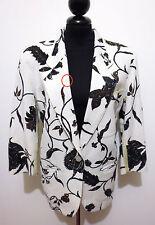 GFF GIANFRANCO FERRE' VINTAGE '80 Giacca Donna Lino Flax Woman Jacket Sz.L - 46