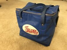 Rare Vintage Retro Blue Drink Pepsi Cola Bag Cooler/Bottle Opener Antique