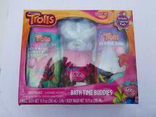 Trolls Bath Time Buddies 3-in-1 Shampoo and Bubble Bath Set + 2 Squirter Poofs