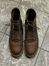 """Red Wing Heritage 6"""" Iron Ranger Lug Copper Rough & Tough Boots 9 D USA 8085"""
