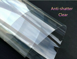Clear Safety Security Film Anti-shatter Protection Tint Home Car 4MIL 60''x20''