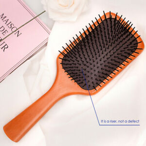 Premium Hair Brush Wooden Paddle Detangler Hair Combs Sturdy Smooth Large/ Small