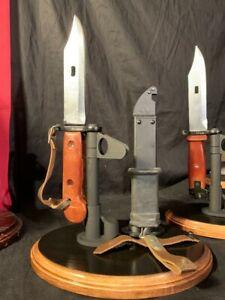 Display Stands for the Soviet/ Polish/ Czech Type I,II, & II Bayonet & Scabbard