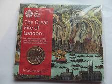 Royal Nuovo di zecca £ 2 P/Pack - 350th ANNIVERSARIO DEL GRANDE incendio di Londra ridotto {}