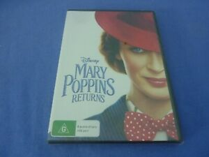 Mary Poppins Returns DVD Disney Emily Blunt R4 New Sealed Free Tracked