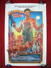 BIG TROUBLE IN LITTLE CHINA *1986 ORIGINAL MOVIE POSTER THE THING HALLOWEEN NM-M