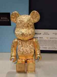 MEDICOM 2020 Bearbrick Royal Selangor Arabesque Gold 400% Pewter Be@rbrick