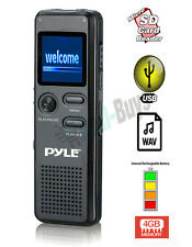 Pyle PVR300 Rechargeable 4GB Voice Recorder w/ PC Interface & Micro SD Slot