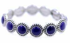 12 enamel circle segment stretch bracelet