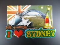 Sidney Australia, Opera, Harbour Bridge Fridge Poly Imán Recuerdo, Nuevo ,( 87)