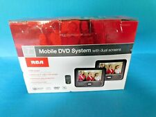 """RCA 7"""" MOBOLE DVD SYSTEM WITH DUAL SCREENS CLEAN AND WORKING COMPLETE DRC69707"""