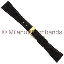14mm Band-It Genuine Crocodile BrownFlat Stitched Ladies Regular Watch Band