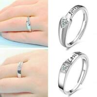 Womens Mens Adjustable Opening Ring Love You Forever Gift Pendant Jewellery V0H2