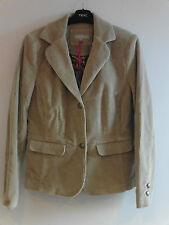 Gorgeous Beige Cord Lined Button Front Jacket from Per Una - Size 12 - BNWT!!
