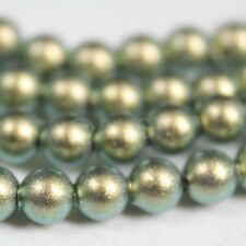 100 pcs Swarovski Element 5810 5mm Ball Crystal Pearl Beads - Iridescent Green