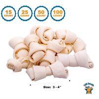 "Rawhide Bones Chews 3-4"" | Premium Rawhide Dog Bones by 123 Treats"