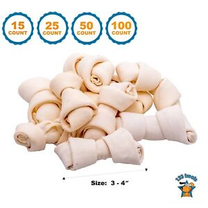 Rawhide Bones Chews 3-4"