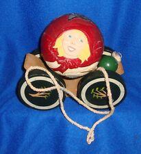 Rare Briere Studio Design Little Red Riding Hood Wooden Pull Toy Folk Art