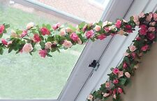 Set of 4 Artificial Small Flowers Vine Hanging Wedding Garland