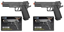 "2x UK ARMS 8.25"" 1911 Replica Airsoft Pistols Handguns Guns w/BBs Air Soft G153B"