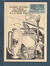 carte  1er jour  journée du timbre  57   Sarreguemine    1964