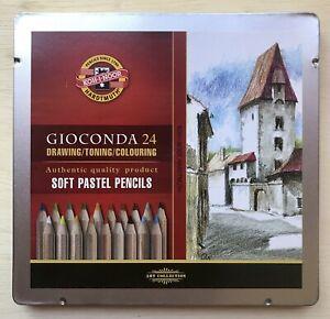 Koh-I-Noor Gioconda Soft Pastel Colored Pencil Set Of 24. New.
