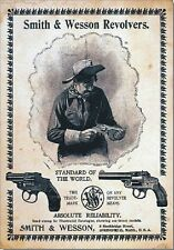 "TARGA VINTAGE ""1743 SMITH & WESSON"" PUBBLICITA', OLD ADVERTISING, POSTER, PLATE"