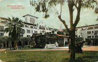 DB Postcard CA D242 Glenwood Hotel Riverside Spanish Architecture 1909 Cancel
