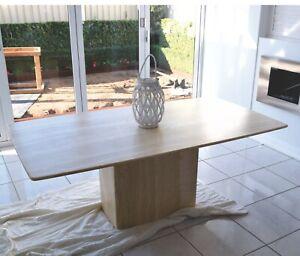 Italian Marble Dining Stone Room Table Seats 6 People