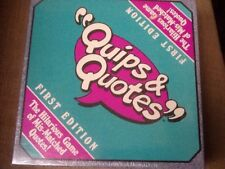 QUIPS & QUOTES TALICOR 1991 Game New Sealed