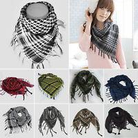 Women Men Shemagh Desert Army Lattice Scarf Keffiyeh Shawl Wrap Towel Headscarf