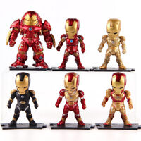6 Pcs/Set Marvel Avengers Age of Ultron Hulkbuster Iron Man PVC Figure Model Toy