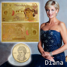 WR Princess Diana 10 Pound Note & Last Rose of England Gold Coin Set Lady Gifts