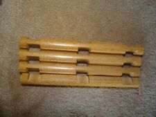 """Lincoln Log Lot of 4 Wooden 7 1/2"""" Long 3 Notch Logs"""