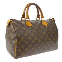 LOUIS VUITTON SPEEDY 30 HAND BAG PURSE MONOGRAM CANVAS M41526 841SA A52369