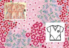 NEW Scrubs ~ Dickies Print Scrub Top ~*  L  *~ Wild Flowers ~ 13107