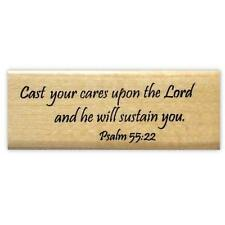 CAST YOUR CARES bible verse Mounted rubber stamp, Christian scripture #16
