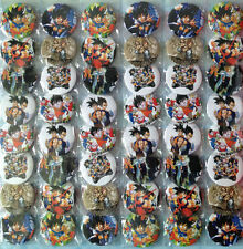 DRAGON BALL Z 4.3CM 40x PIN BADGES CUTE NEW FOR PARTY CLOTH BAG