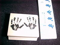 Hands Rubber Wood Mounted Stamp Stamp Craft